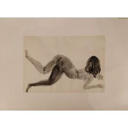Adam Smolna - Akt - 1968 r. - rysunek