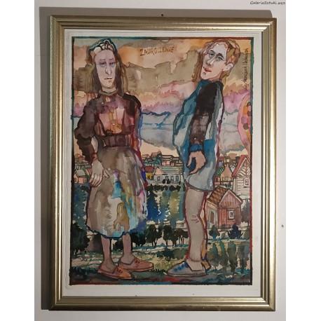 Franciszek Maśluszczak (1948) - Zauroczenie - akwarela