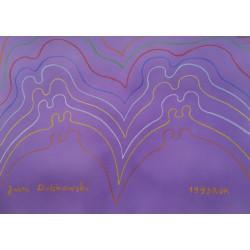 Jan Dobkowski (1942) - bez tytułu - pastel, papier - 1993 r. - 50x70 cm.