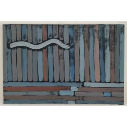 Jan Dobkowski (1942) - Ocean - akryl, płótno - 1988 r. - 24x40 cm.