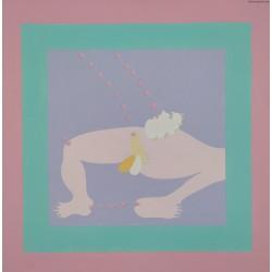 """Jan Dobkowski (1942) - z cyklu """" Obrazy magiczne XXXVI"""" - akryl, płótno - 1975/2020 r. - 54x54 cm."""