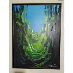 Edward Dwurnika - Wąwóz Świętej Królowej Jadwigi - akryl, płótno