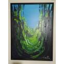 Edward Dwurnik - Wąwóz Świętej Królowej Jadwigi - akryl, płótno